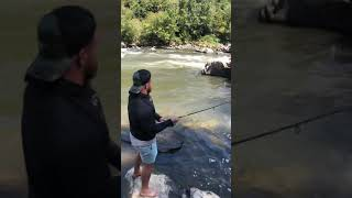 Dash Wilder fishing the French Broad River for Smallmouth Bass