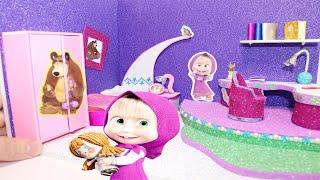 Мини комната для МАШИ!!!Маша и медведьDIY Miniature room for Masha Masha and the Bear