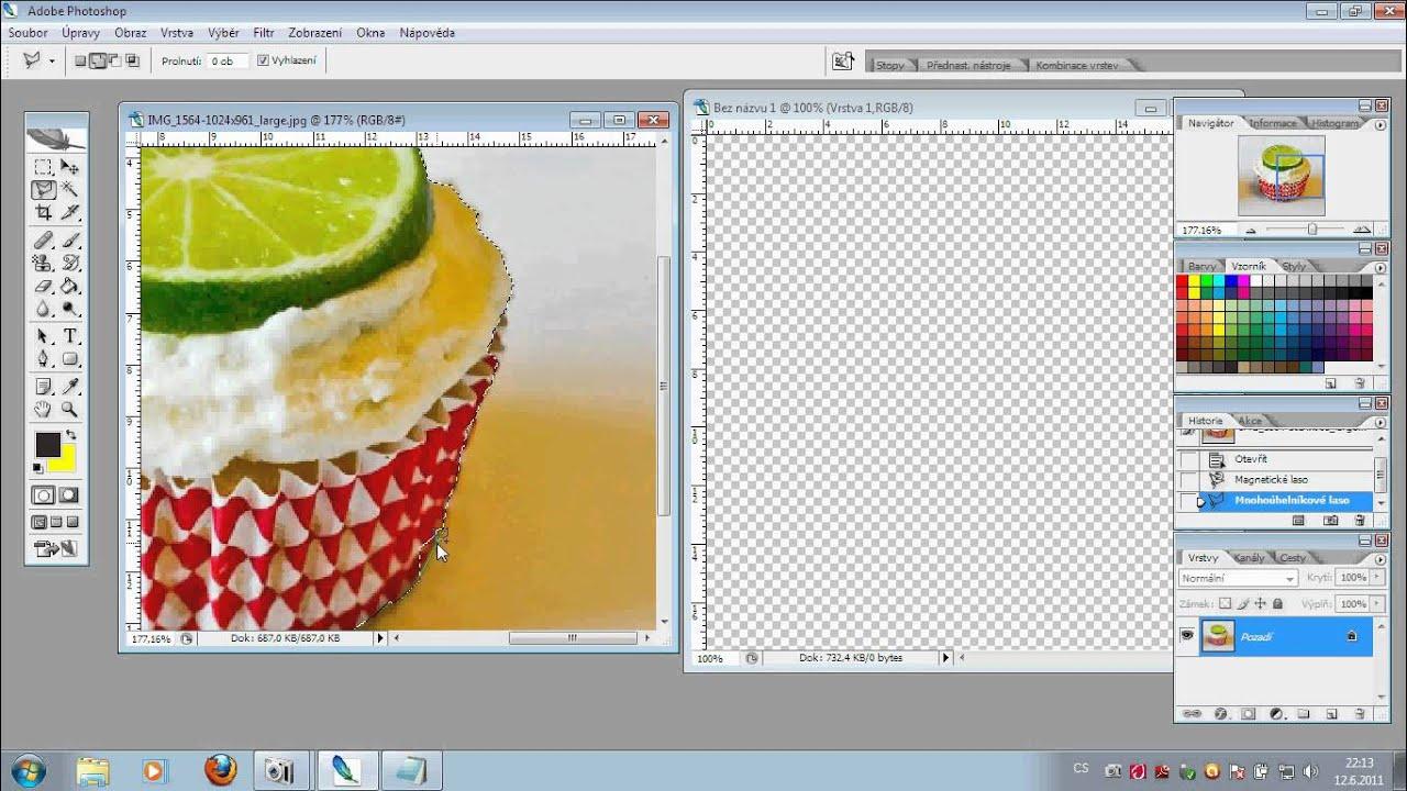 Jak udělat průhledné pozadí v photoshopu