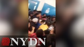 Violent brawl in Bronx high school cafeteria