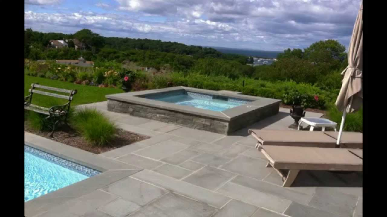 Pool Coping Using Bluestone Pavers Youtube