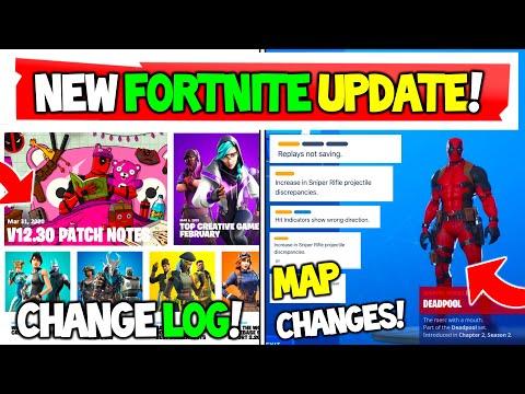 NEW Fortnite Update Preview V12.30! Change Log, Map Changes, Deadpool! (Season 2)