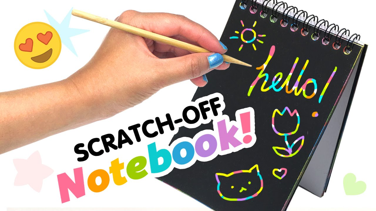 How To Make A Rainbow Book Cover : Diy scratch off rainbow notebook weird back to school