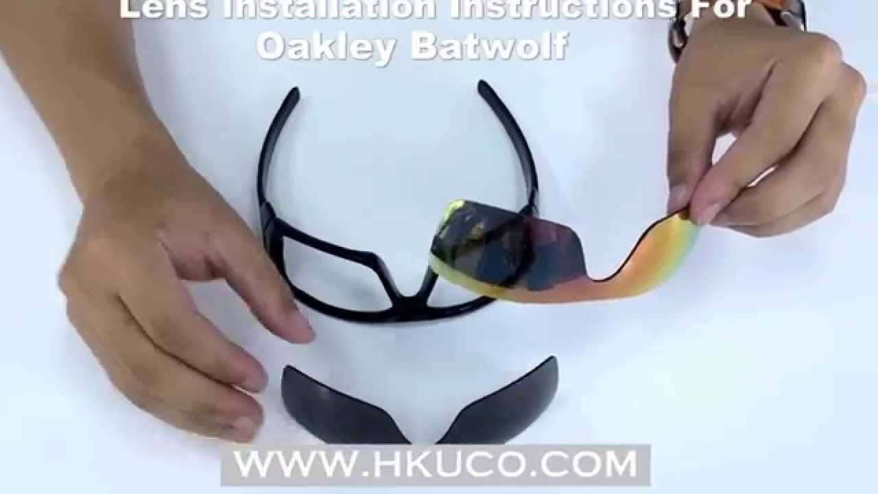 5599fc45f3 For Oakley BATWOLF Lens Installation Instructions   HKUCO - YouTube
