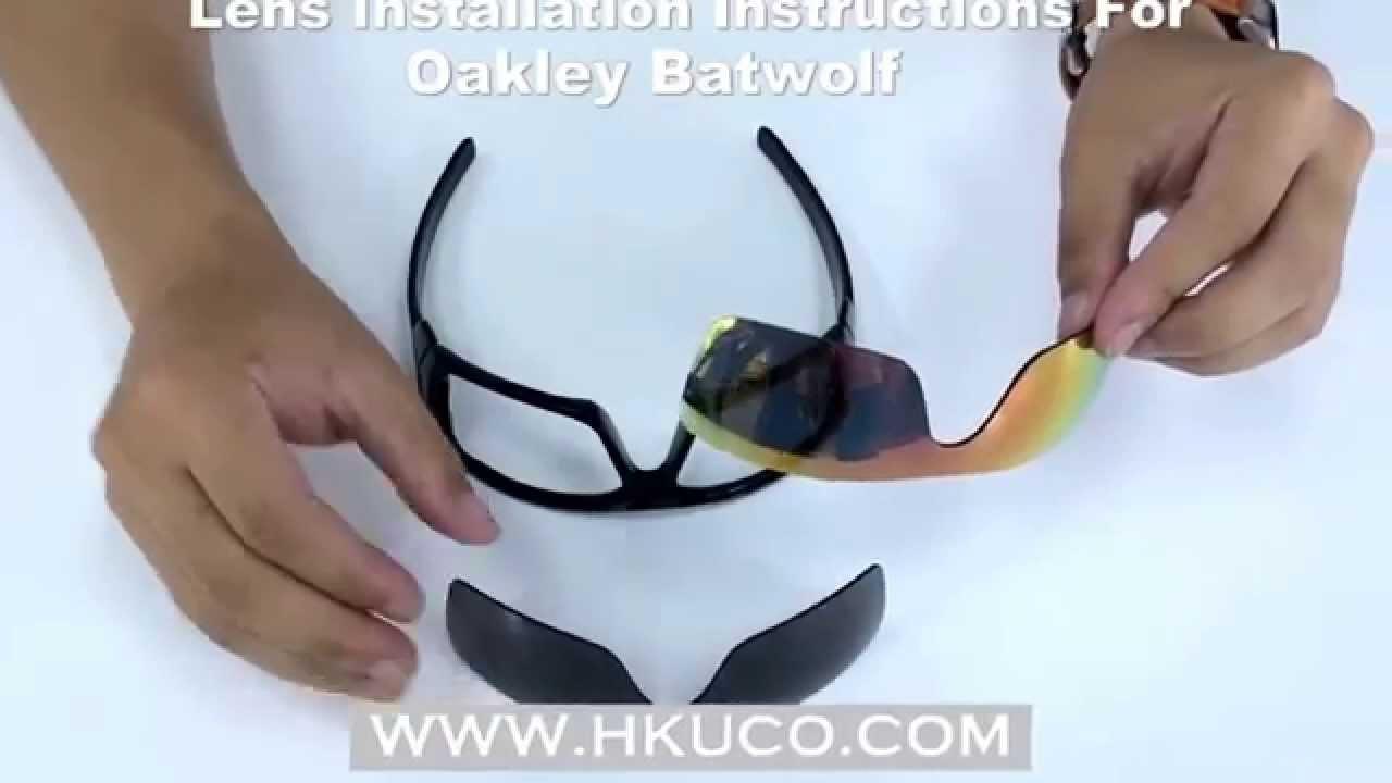 6e8556b118 For Oakley BATWOLF Lens Installation Instructions   HKUCO - YouTube