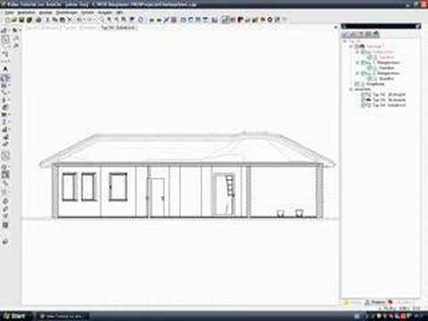 cad software architektur video tutorial technischer schnitt youtube. Black Bedroom Furniture Sets. Home Design Ideas