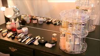 Acrylic Rotating Make Up organizer