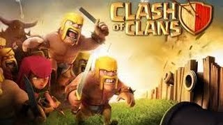 Clash Of Clans : My Biggest Loot 135k Gold and 75k Elixir!! Town Hall level 4 All Barbarian Raid!!