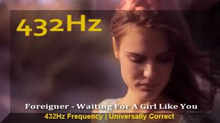 Foreigner - Waiting For A Girl Like You 432hz Frequency | 432 hz conversion (a=432hz)