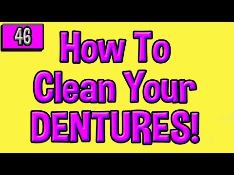 Dentures: How to Clean Them