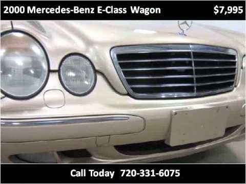 2000 mercedes benz e class wagon used cars denver co youtube. Black Bedroom Furniture Sets. Home Design Ideas