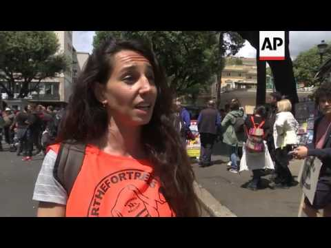 Anti EU immigration policy demo held in Rome