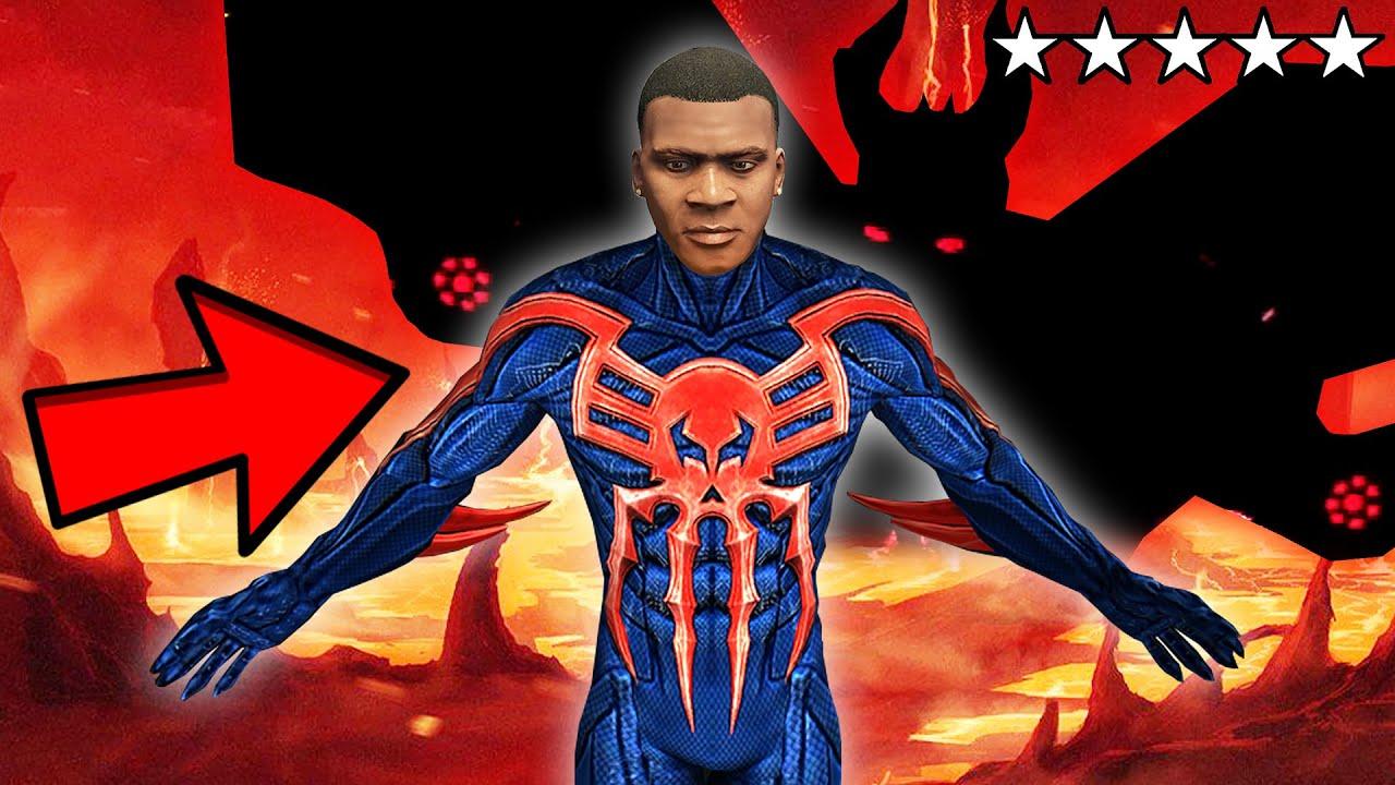 GTA 5: FRANKLIN Becomes SPIDER-MAN 2099 & Fights HOBGOBLIN!