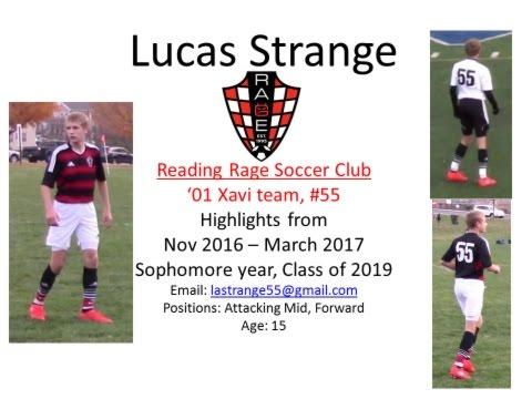 Lucas Strange Rage Soccer Highlights(11/16 To 3/17)