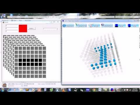 Phần mềm tạo mã và mô phỏng led cube 8x8x8 (Make and simulate code for 8x8x8 led cube)