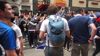French Team Fans in San Francisco going crazy!
