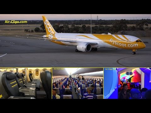 Scoot Boeing 787-9 Business Class Perth-Singapore HOT HOT HOT [AirClips full flight series]