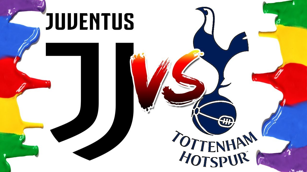 How To Draw And Color Juventus Vs Tottenham Champions League Logos Coloring Pages Youtube