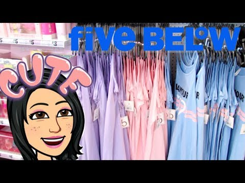 FIVE BELOW 2019 SHOPPING!!! *CUTE & NEW* $1 to $5 CLOTHES, ROOM DECOR *CHEAP* SKINCARE + MORE!!!! Mp3