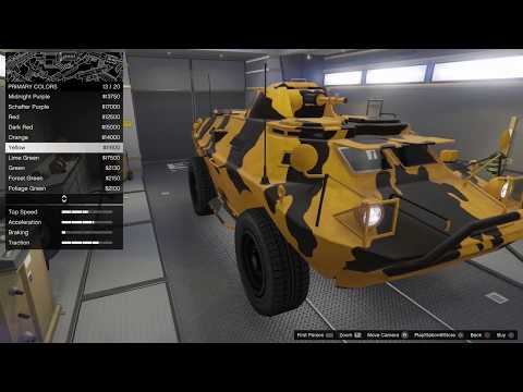 GTA 5 Gunrunning DLC Vehicle Customization (HVY APC)