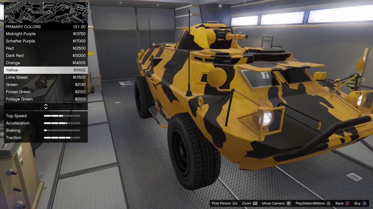 Gta  Dlc Vehicle Customization Hvy Apc Gunrunning