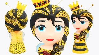 FROZEN ELSA HONEY BEE QUEEN Princess Bee Hive Dress Paint Your Own Makeover How to