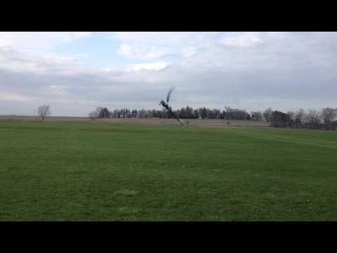 John Cook Alees Rush 700 MKS X8 servos, Haiyin 40C 5000mah Packs, 2nd flight on heli