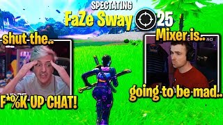 NINJA *FULL TOXIC* after FaZe SWAY *GOES OFF* in Fortnite Friday!
