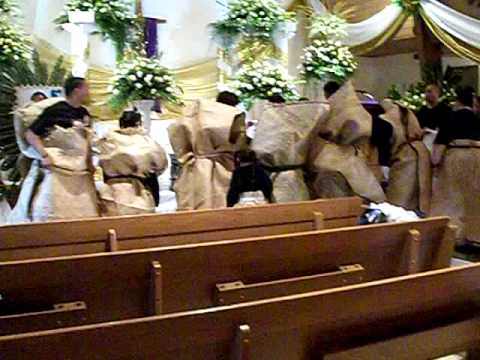Getting uncle Vake settled in the church. -Rest easy Tavake Ngalo.