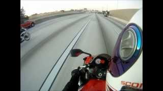 4 bikes on the highway GoPro