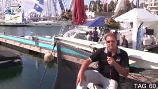 TAG Yachts - exterior walk-through of TAG 60 at Cannes Boat Show
