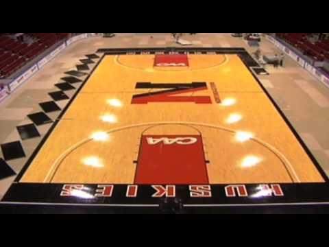 Matthews Arena - Basketball Floor TimeLapse Video