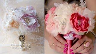 Потрясающий свадебный букет из ткани! Мастер-класс