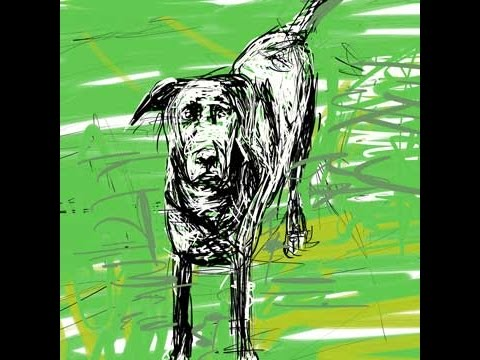 Paint a dog in the style of Alberto Giacometti in Corel Painter