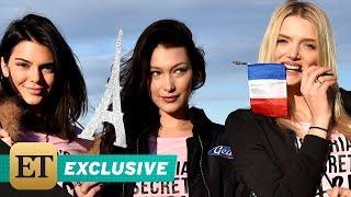 EXCLUSIVE: ET Flies With Victoria's Secret Angels as They Jet to Paris for 2016 Fashion Show