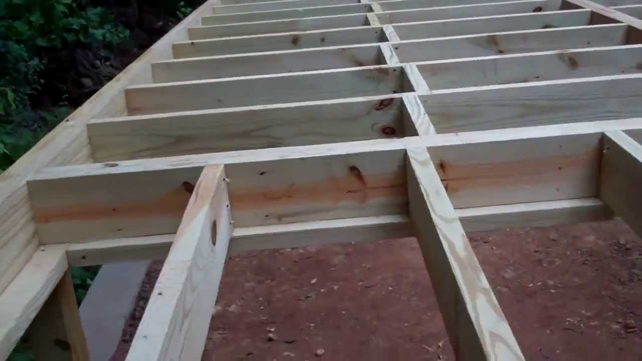Construction of Project Mega Shed Part 4 Building the Subfloor ...