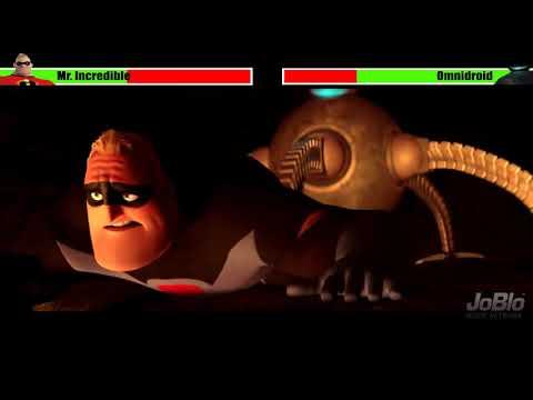 Mr. Incredible Vs Omnidroid | Tabular Battle (healthbars)