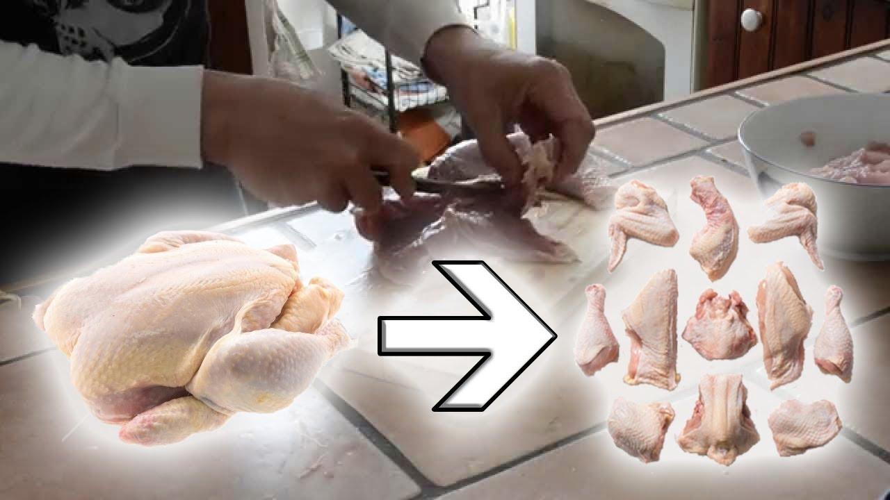 operation poulet 005 d couper un poulet fermier en morceaux youtube. Black Bedroom Furniture Sets. Home Design Ideas