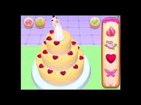 Jeu De Cuisine/ Préparation  De Gâteau De Mariage Weeding Cake