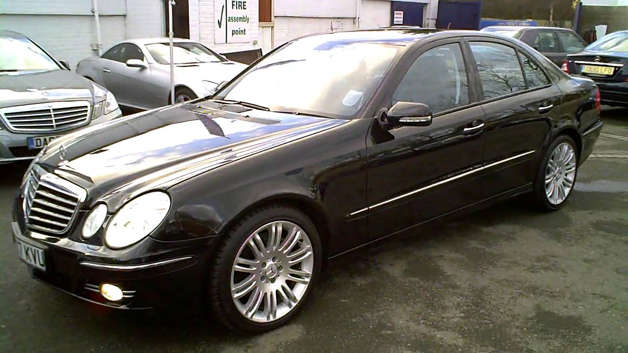2007 mercedes e320 cdi sport saloon auto v6 diesel black youtube. Black Bedroom Furniture Sets. Home Design Ideas
