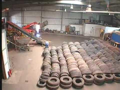 видео: Производство резинового гранулята