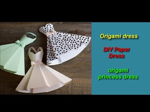 How to make an origami paper dress / Folding Craft, Videos and Tutorials Step By Step