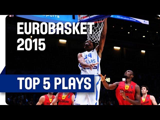 Γιάννης Αντετοκούνμπο ...στην 1η θέση του Top5  (1ης μέρας της φάσης των 16  Ευρωμπάσκετ 2015)