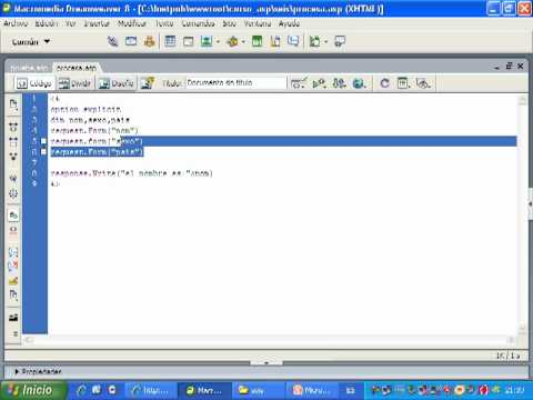 Videotutorial 6 ASP y SQL Server