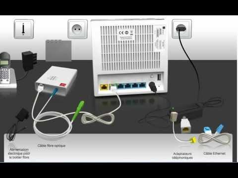 Branchement du media converter la box de sfr nb6 en fibre optique youtube - Comment faire installer la fibre ...