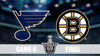 Blues VS Bruins Game 6 Сент Луис Бостон Плей-офф,  Финал, Обзор матча