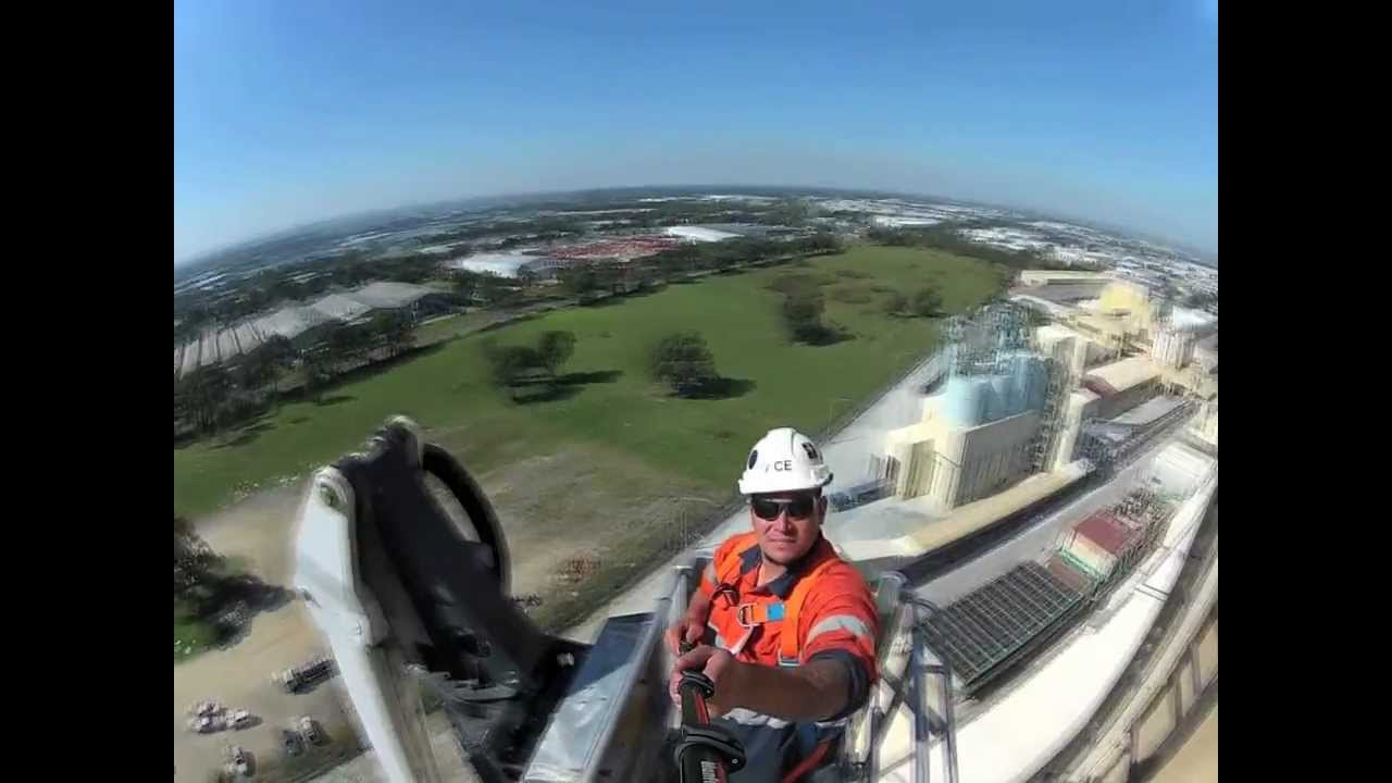 boom lift ace tower hire aerial man lift 60 metre 200 feet high youtube [ 1280 x 720 Pixel ]