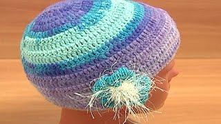Crochet Hat For Women Урок 2 часть 3 из 3 Как вязать женскую шапочку