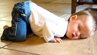Funny Babies Falling Asleep - Funny Baby Video