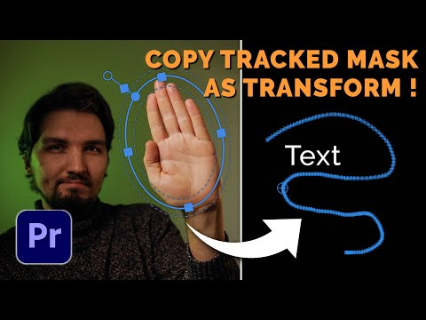 AUTOMATIC MOTION TRACKING IN PREMIERE PRO - track like in After Effects with Mask To Transform